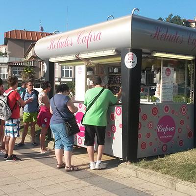 Kiosko de Helados Capra.